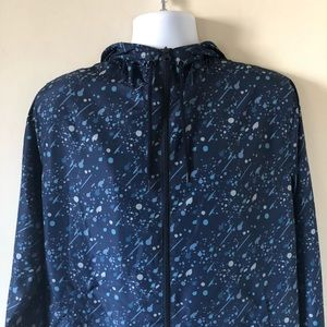 Navy Splatter Windbreaker